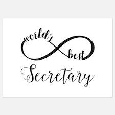World's Best Secretary 5x7 Flat Cards