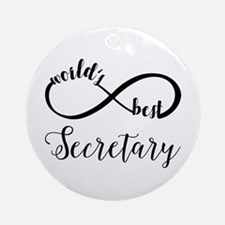 World's Best Secretary Round Ornament