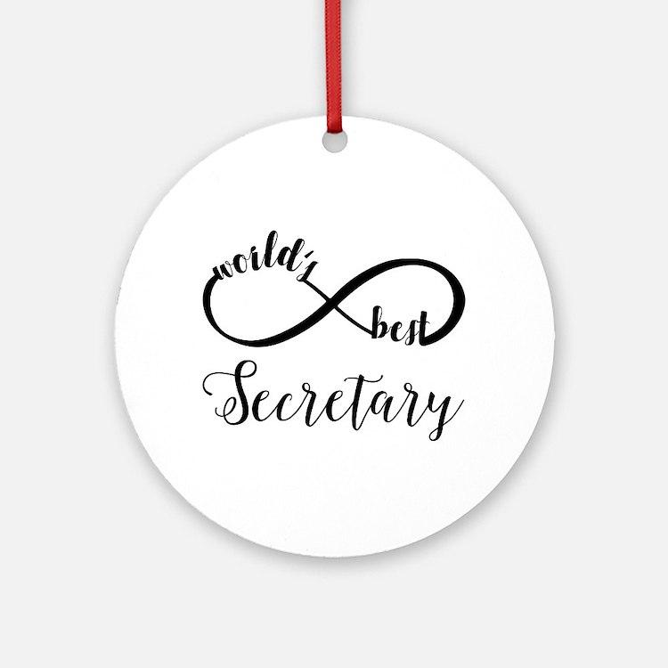 World's Best Secretary Round Ornament