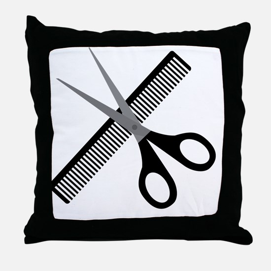 Cute Barber Throw Pillow