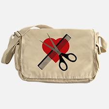 Cute Hair salon Messenger Bag