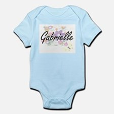 Gabrielle Artistic Name Design with Flow Body Suit
