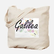 Galilea Artistic Name Design with Flowers Tote Bag