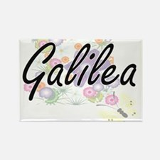 Galilea Artistic Name Design with Flowers Magnets
