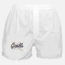 Giselle Artistic Name Design with Flo Boxer Shorts