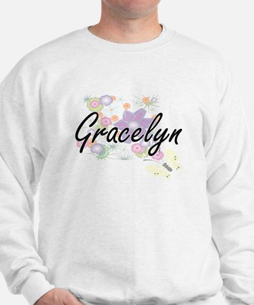 Gracelyn Artistic Name Design with Flow Sweater