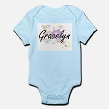 Gracelyn Artistic Name Design with Flowe Body Suit