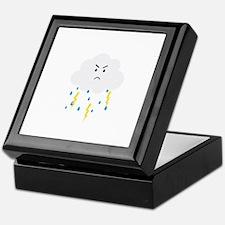 Grumpy cloud with lightnings Keepsake Box