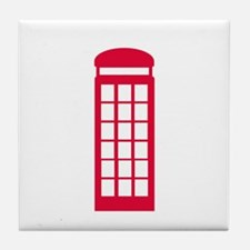 phone booth Tile Coaster