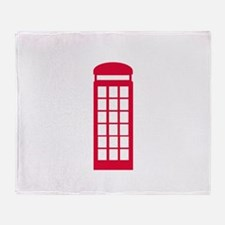 phone booth Throw Blanket