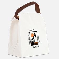 Black Gold Texas Tea Canvas Lunch Bag