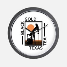Black Gold Texas Tea Wall Clock