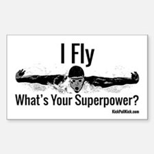 I Fly What's Your Superpower? Decal