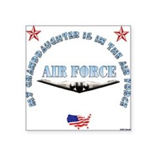 "Cute Air force my daughter Square Sticker 3"" x 3"""