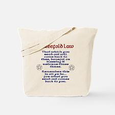 Threefold Law Single Side Print Tote Bag
