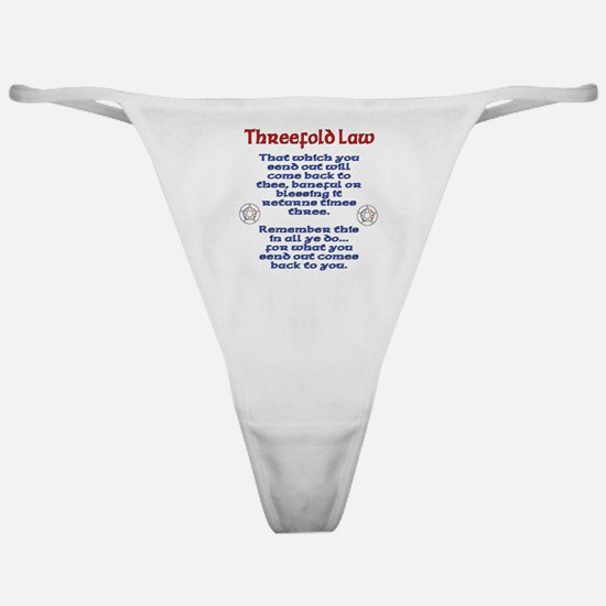Threefold Law Classic Thong