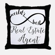 World's Best Real Estate Agent Throw Pillow