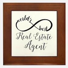 World's Best Real Estate Agent Framed Tile