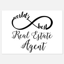 World's Best Real Estate Agent 5x7 Flat Cards