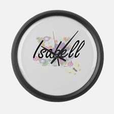 Isabell Artistic Name Design with Large Wall Clock