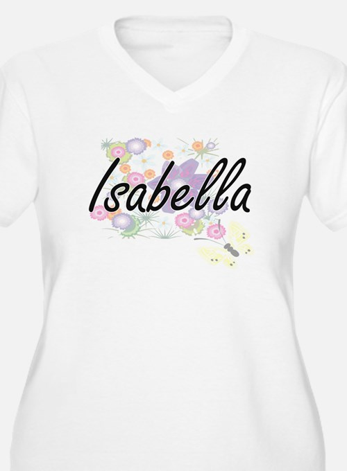 Isabella Artistic Name Design wi Plus Size T-Shirt
