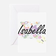 Isabella Artistic Name Design with Greeting Cards