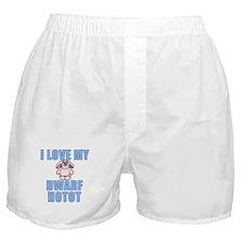 I Love my Dwarf Hotot Boxer Shorts