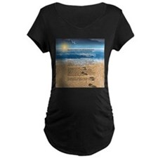 Footprints in the Sand Maternity T-Shirt