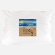 Footprints in the Sand Pillow Case