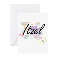 Itzel Artistic Name Design with Flo Greeting Cards