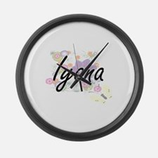 Iyana Artistic Name Design with F Large Wall Clock