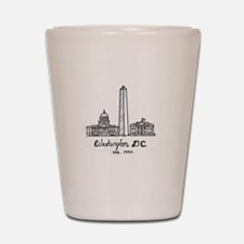 Cute Washington dc Shot Glass