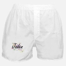 Jaden Artistic Name Design with Flowe Boxer Shorts