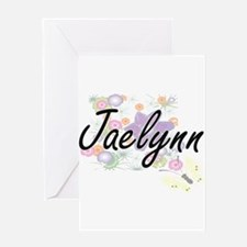 Jaelynn Artistic Name Design with F Greeting Cards
