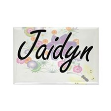 Jaidyn Artistic Name Design with Flowers Magnets