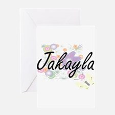 Jakayla Artistic Name Design with F Greeting Cards