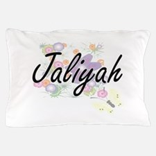 Jaliyah Artistic Name Design with Flow Pillow Case