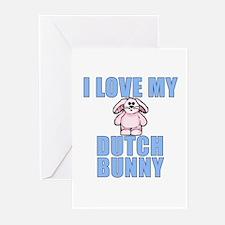 I Love My Dutch Rabbit Greeting Cards (Pk of 10)