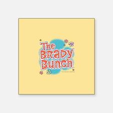 """The Brady Bunch Logo Square Sticker 3"""" x 3"""""""