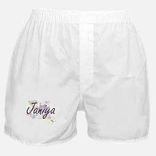 Janiya Artistic Name Design with Flow Boxer Shorts