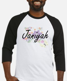 Janiyah Artistic Name Design with Baseball Jersey
