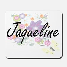 Jaqueline Artistic Name Design with Flow Mousepad