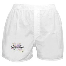 Jaqueline Artistic Name Design with F Boxer Shorts