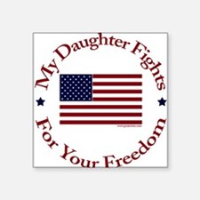 "Unique Military daughter Square Sticker 3"" x 3"""