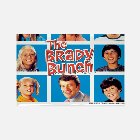 The Brady Bunch Grid Rectangle Magnet