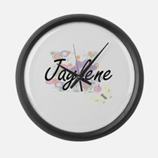 Jaylene Artistic Name Design with Large Wall Clock