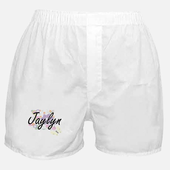 Jaylyn Artistic Name Design with Flow Boxer Shorts