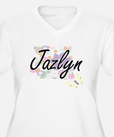 Jazlyn Artistic Name Design with Plus Size T-Shirt
