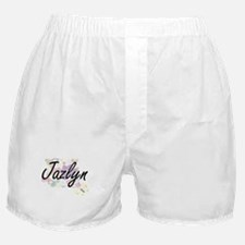 Jazlyn Artistic Name Design with Flow Boxer Shorts