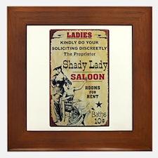 Shady Lady Saloon Framed Tile